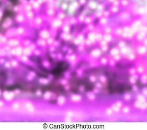 Pink Blurred Lights Background