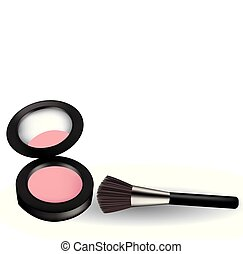 Pink blush with brush