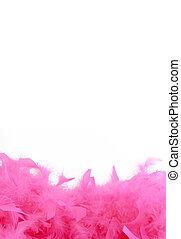 pink boa border - glamorous pink feather boa border or...