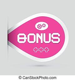 Pink Bonus Vector Label Isolated on Light Background