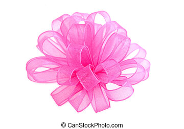 Pink Bow - bright pink cloth bow