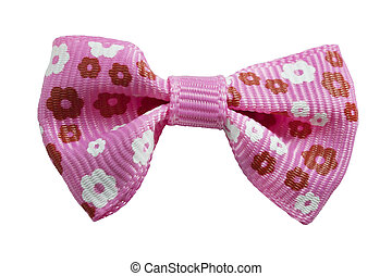 pink bow isolation on a white background