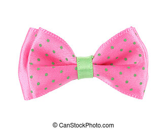 Pink bow tie.
