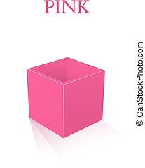 Pink Box isolated on white