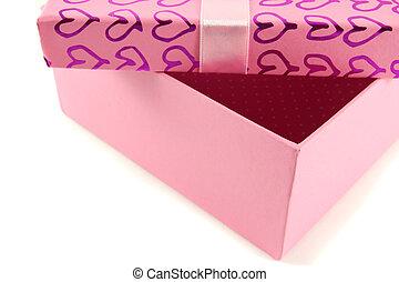 Pink box open