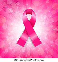 Pink Breast Cancer Ribbon Banner