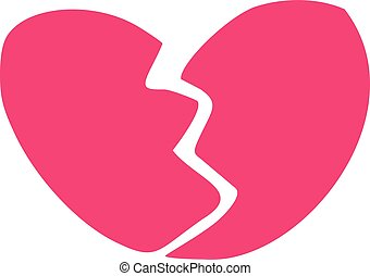 Pink broken heart