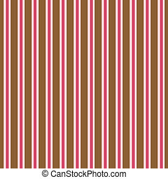 Pink & Brown Stripes
