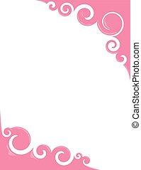 Pink Bubblegum Swirls - Swirly borders with a sheen that...
