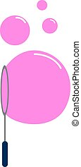 Pink bubbles, illustration, vector on white background.