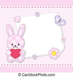 Pink bunny card