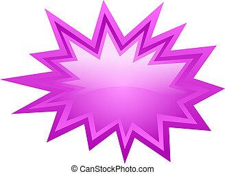 Pink burst icon - Pink burst vector icon