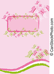 pink butterfly banner