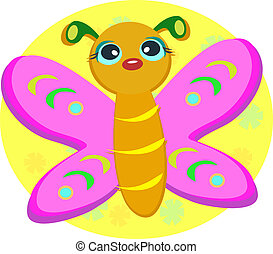 Pink Butterfly - Here is a colorful Butterfly with pink...