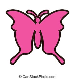 pink butterfly icon image