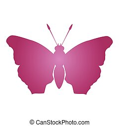 butterfly silhouette icon image