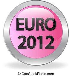 "pink button ""EURO 2012"""