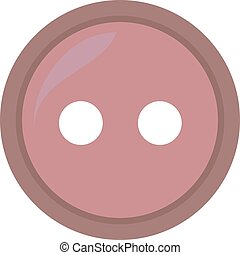 Pink button, illustration, vector on white background.