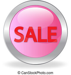 "pink button ""sale"""