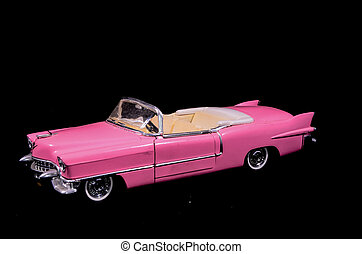 Pink Caddilac Car Toy Model