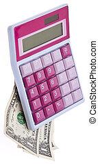 Pink Caluclator with Money