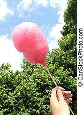 pink candy floss