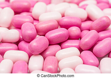 Pink Candy Mints Used For A Fresh Breath