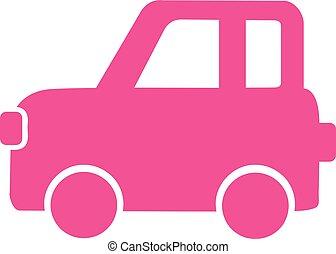 Pink car icon