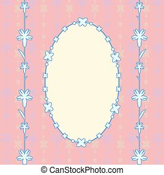 pink card oval