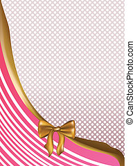 Pink Card with Golden Bow