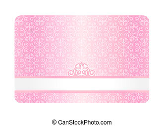 Pink Card with Vintage Pattern