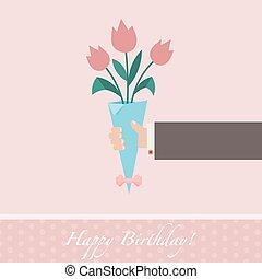 Pink celebratory background
