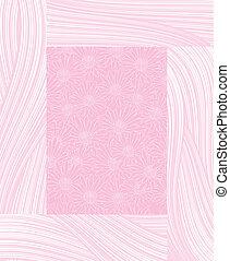 pink chamomile frame