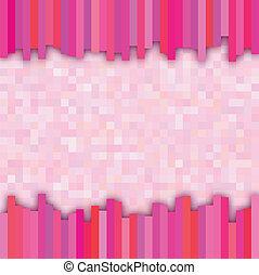 Pink checkered background