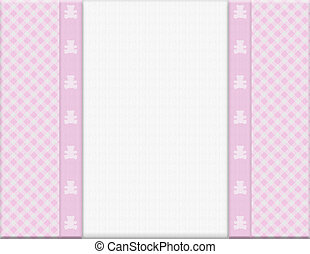 Pink checkered celebration frame for your message or invitation