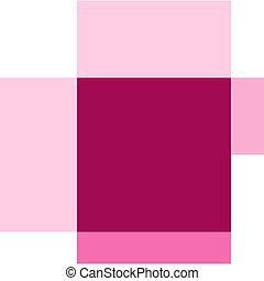 Pink chicken on white background