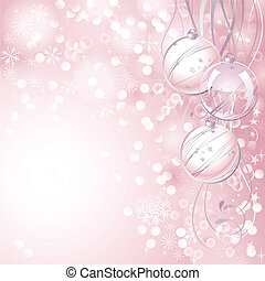 Christmas backdrop - pink Christmas backdrop with three...