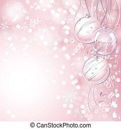Christmas backdrop - pink Christmas backdrop with three...