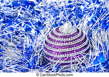 pink christmas ball with decoration