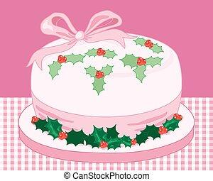 pink christmas cake