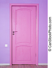Pink closed door