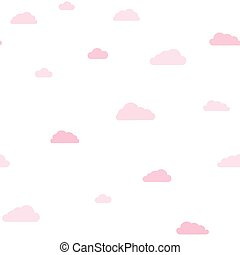 Pink clouds on white background