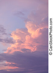 Pink Clouds - Pink clouds in the early morning sunrise.