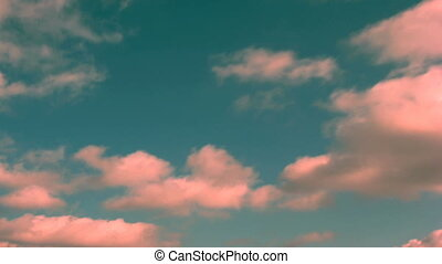 pink clouds time lapse