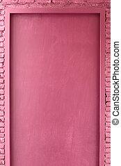 Pink color door - Pink color wood door around with pink...