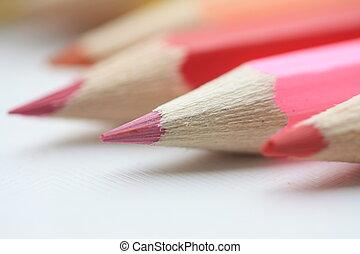 pink color pencils