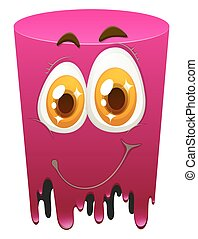 Pink color tube with happy face
