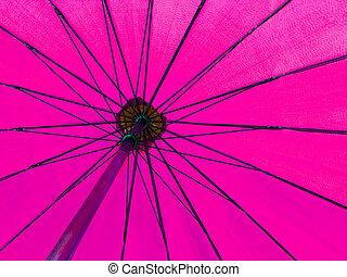 Pink color umbrella