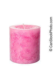 Pink Colored Aromatic Candle