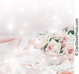 Pink composition for greeting card or invitation - Romantic...